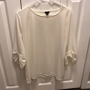 Ann Taylor bunched sleeve blouse